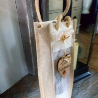 Personalised Wine Bottle Jute Bag